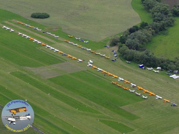 Luftbild des Pipertreffen 2012